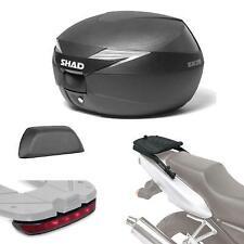 Kit fijacion + maleta baul trasero + luz de freno + respaldo regalo SH39 compat