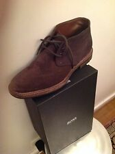 HUGO BOSS, bottines en daim marron, exellent état, pointure 42, UK 8 et US 9
