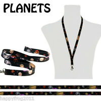 Satin COSMOS PLANETS Neck Strap Mobile Ipod MP3 Conference Pass Badge Lanyard