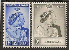 BASUTOLAND 1948 ROYAL SILVER WEDDING SG36/37 MNH