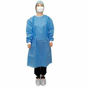 Disposable Isolation Gowns Blue With Knit Cuff Dental-Medical 10/50/100 PACK NEW