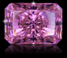 22 ct Stunning Pink Emerald Radiant Vintage Top CZ Moissanite Simulant 19x14 mm