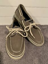 SPERRY TOP-SIDER MEN's Sz 8.5 Grey Canvas Boat Shoes Loafers