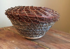 Virginia Kaiser Hand Woven Jacaranda / Date Palm gourd Basket NWT Australia