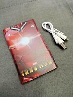 Batterie Externe Officielle IRON MAN Marvel 2600mAh NEUVE + Câble USB Micro USB