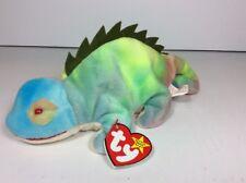 New Iggy #1 Pvc Rainbow Tie Dye Died Iguana Chameleon Lizard 1997 Ty Beanie Baby
