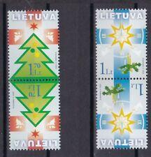 Litauen 2002 postfrisch Kehrdruck MiNr. 804-805 Weihnachts und Neujahrsgrußmarke
