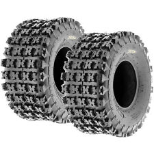 2x NEW SunF 20x11-8 (20x11x8) XC Sport ATV Knobby Tires Set Pair 6 PLY A027