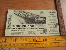 1973 Tuborg 150 Cajon Speedway Stock car FULL ticket auto racing