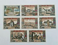 BUTZBACH NOTGELD 25, 7x 50 PFENNIG 1921 NOTGELDSCHEINE (11592)