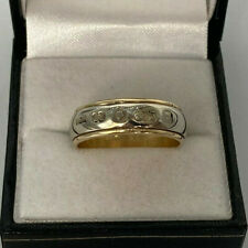 9ct Gold 2 x Colour Gold 5.5mm Wedding Band Ring.  Goldmine Jewellers.