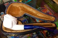 Meerschaum - Collectible Carved Figural Tobacco Pipe New In-Case. New L@@K