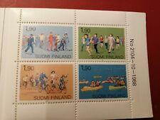 *Finland  1989*  Mass sport  *booklet -4 stamps *MINT never hinged*