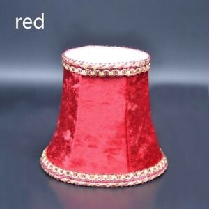 Vintage Small Lampshade Velvet Fabric Lamp Drum Shade Table Ceiling Light Cover