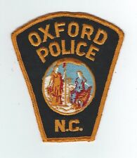 VINTAGE OXFORD, NORTH CAROLINA POLICE (CHEESE CLOTH BACK) patch