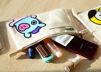 BTS / BT21 PVC Slim Pouch Portable Cosmetic Bag Official KPOP goods Authentic MD