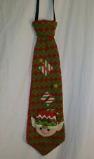 Christmas  UGLY Sweater Tie elf gift elastic neck tie a11