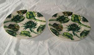 "2 Emma Bridgewater Vegetable Garden Artichoke 8.5"" Plates - New - Seconds"