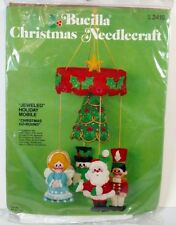 Bucilla Holiday Jeweled Mobile Christmas Go Round Vintage Bucilla Needlecraft