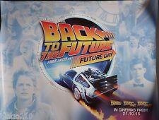 BACK TO THE FUTURE ORIGINAL 2015 QUAD POSTER FUTURE DAY  MICHAEL J FOX DELORIAN