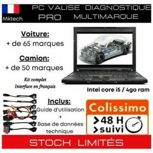 PC Intel i5 Valise Diagnostic Auto Multimarque Complete Diagnostique Pro OBD2