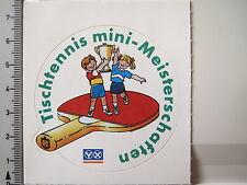Aufkleber Sticker Tischtennis Minimeisterschaften - Volksbank - Raifeisen (2941)
