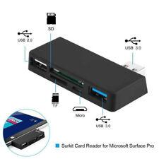 5 Ports USB3.0 COMBO HUB SD TF Card Reader Expander For Microsoft Surface Pro