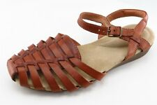 Clarks Ankle Strap Brown Leather Women Shoes Size 7 Medium (B, M)