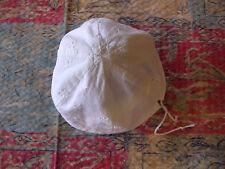 2 bonnet ancien bébé dentelle broderie vintage puériculture