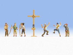 NOCH 45874 Bergwanderer mit Gipfelkreuz, 6 Figuren + Zubehör (TT) ++ NEU & OVP