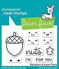 Lawn Fawn, clear stamp, big acorn