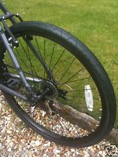 1 Pair of Slick MTB Tyres 26 X 2.10 Black WHITEWALL Ls077 Dirty W Marks 2 Tyres Only