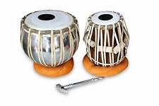PROFESSIONAL HANDMADE TABLA DRUMS SET IRON BAYAN_SHESHAM WOOD DAYAN TABLA A19