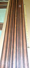 "Ebony Macassar wood veneer 6"" x 60"" raw no backing 1/64"" thickness Quarter Cut"