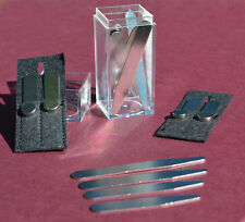 """2 1/2"""" LONG COLLAR STAYS w/ MAGNETS FOR STANDARD POINT COLLAR DRESS SHIRTS"""