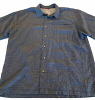 THE NORTH FACE Men's blue plaid hiking outdoors button down vented shirt Large L