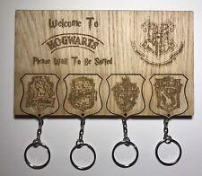Harry Potter Hogwarts Slytherin Crest Keyring Keychain Wall Mount Key Holder