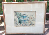 Haitian Street Scene Original Watercolor Painting Art by Squire Knowles Rare!