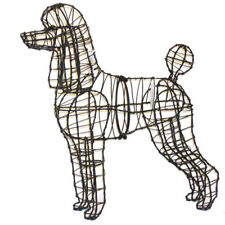 Poodle Dog Metal Wire Topiary Frame