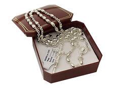 10,50 g 925 Silber Rosenkranz Halskette Kreuzkette Kreuz / Taufe Geschenk