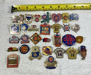 Chicago Cubs Baseball Pins Sosa Banks Alou Bear Wrigley Field Vintage