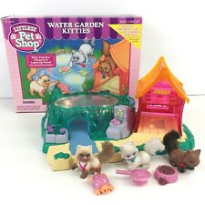 Vtg Kenner 1995 Littlest Pet Shop Water Garden Kitties Complete In Box works