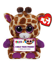 TY Beanie Boos Peek A Boos 4 inch JESSE the Giraffe Phone Holder with Cleaner