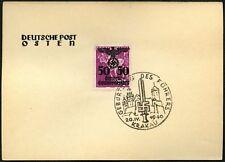 Poland German Occupation 1940 Deutsche Post Osten 50g Card #C45269