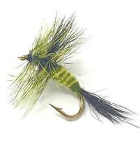 Green Drake Mayfly- 12 Flies - 3 Size Assortment 14,16,18 (4 of Each Size)