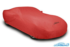 Coverking Red Triguard Tailored Car Cover for Chevy Corvette C8 - Made to Order
