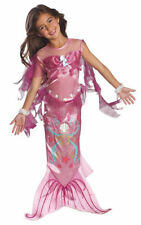 Polyester Complete Outfit Mermaid Costumes for Girls