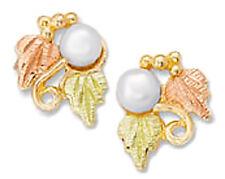 Landstrom's® 10K Black Hills Gold Leaves Earrings with Pearl