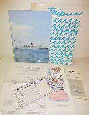 R.M.S Queen of Bermuda lot, menu, passenger list, program ship boat