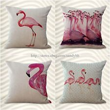 set of 4 modern throw pillow covers cushion covers flamingo bird animal